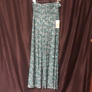 Honey and Lace Pacific Palazzo Pants Teal and Gray